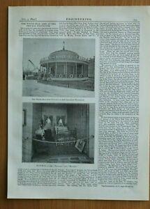 EI1a) White Star Line 1893 Chicago Exposition Pavillon Zimmer TEUTONIC MAJESTIC
