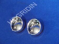 red chrome bullet bezel turn signal lens lenses visors harley softail sportster