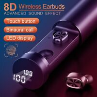 TWS Bluetooth 5.0 Earpiece Headphone Earbuds HiFi Stereo Earphones Touch Control