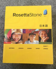RosettaStone Japanese Level 1 Version 3 Win/Mac CD ROM with headset Brand New
