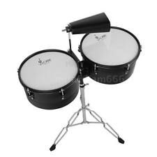 """Latin Percussion 13"""" & 14"""" Timbales Drum Set with Stand and Cowbell U4X2"""