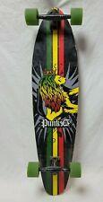 "PUNKED LONGBOARD-Lion-Good Shape-40"" X 10""-Ready to Ride!"