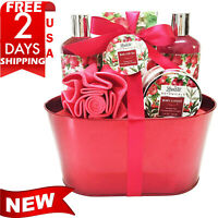 BIRTHDAY GIFT FOR HER  Bath & Body Basket Women, Love of Rose Scent Shower