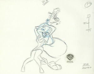 Animaniacs-Minerva- Original Production Drawing-Moon Over Minerva