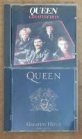 Bundle Pair of Queen Greatest Hits 1 & 2 CD's CD set Long Play CD