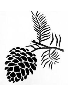 Pine Cone Durable & Reusable Plastic Stencils 7x5