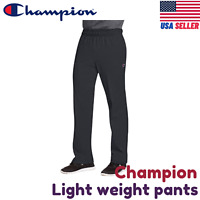 Champion P7309 Men's Open Bottom Jersey Pants w/ Pockets Authentic Light Weight