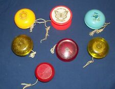 Lot of 7 Vintage Duncan Yo-Yos Butterfly - 2 Gold Award- Special - Disney Donald