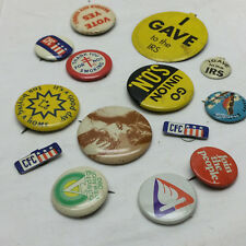 14 Vintage Pinback Buttons Assorted Lot