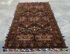 Authentic Hand Knotted Afghan Balouch Zakani Wool Area Rug 5 x 3 Ft (20724 HMN)