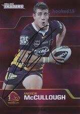 Signed Andrew McCullough Brisbane Broncos Autograph on 2013 NRL Parallel Special