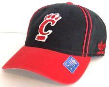 cc0ca04a4e6 Adidas Trefoil UC BEARCATS HAT Cincinnati Black Red Men Women Cap FLEX FIT L