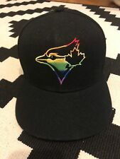 Toronto Blue Jays limited edition pride color snapback black hat  snap back
