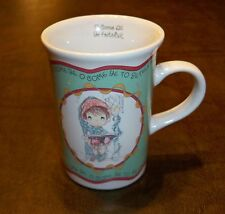 "1994 Precious Moments ""O Come All Ye Faithful"" Mug Cup Christmas Boy Caroling"