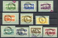 Altdeutschland Württemberg Dienst MiNr. 272-81 Briefstück Infla geprüft (K105