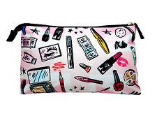 W7 Cosmetic Print Large Plush Cosmetic & Make Up Bag