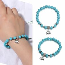 Charm Bracelets Bangles Natural Stone Elephant Pendant Bead Bracelet Jewelry