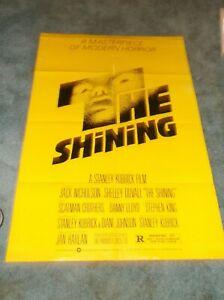 "THE SHINING(1980)JACK NICHOLSON ORIGINAL 1 SHEET POSTER 27""BY41"""