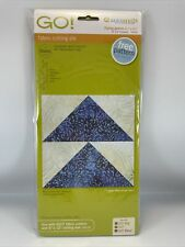 """Accuquilt GO! Aaccuquilt GO!  Fabric Cutting Die Flying Geese 3""""x6"""" 55456"""