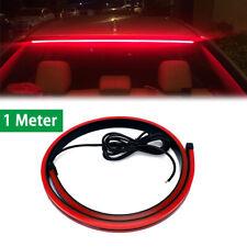 "100cm 39.4/"" Rear Brake Signal Reverse Parking LED Light Strip Bar Waterproof Red"