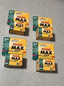4X Kodak Gold Max 35 mm ISO 800 24 exposure Film, Expired 02/2001, New SEALED