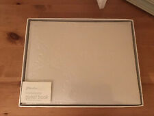 Paperchase Cream Damask Bonded Leather Guest Book Wedding