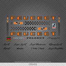 Peugeot PX/PY10 Bicycle Frame Stickers - Decals - Transfers - 19 Colours