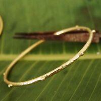 Sterling Silver Designer Handmade Granulated Bangle 24k Yellow Gold Vermeil Omer