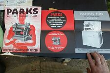 Parks - Manufacturers of Quality Woodworking Machines Planers booklets