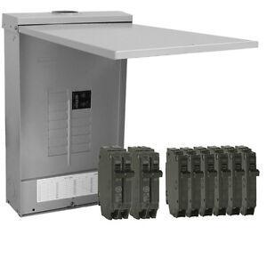 GE PowerMark Gold 125-Amp 12-Space 24-Circuit Outdoor Main Circuit-Breaker Panel
