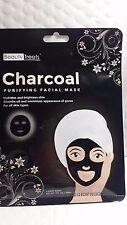 CHARCOAL PURIFYING FACIAL MASK BEAUTY TREATS 1 SHEET MASK NET WT 1 FL OZ 10/22