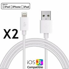 2xNew Lightning 8Pin USB Data Sync Charger Cable Cord for iphone 55S 6 6S 7 IPAD