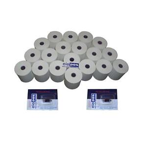 Casio 140CR  Casio140 Till Rolls and Ink Roller, 20 Rolls , 2 Qty Ink Rollers