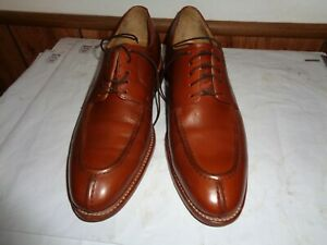 Men's Size 9 M Brown Leather Lace Up Wing Tip Johnston & Murphy Shoes