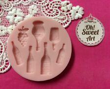 Wine Bottles Silicone Mold Food Cake soap fondant Decoration Cupcake (FDA)