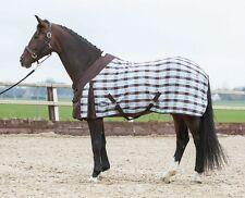 Harry´s Horse Sommerdecke gewebt für optimale Belüftung in braun/blau kariert