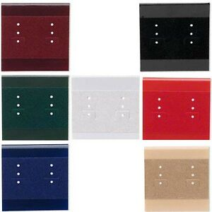 3 Blank Plastic Velveteen Earring Display Cards with Hanging Tab for 6 Pairs