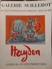 Henri Hayden affiche lithographie Galerie Suillerot Paris  P558