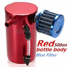 0.5L 12mm Barb Oil Catch Tank Can Reservoir Breather Fliter Alloy Racing Engine
