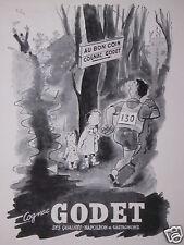 PUBLICITÉ 1947 AU BON COIN COGNAC GODET - COURSE A PIED - ADVERTISING