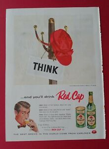 1956 Red Cap - Think and you'll drink Red Cap Ale Color AD
