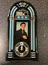 "NEW Elvis Presley Jukebox Shape Wood Lacquered Clock Wall Art ~ 22"" tall"