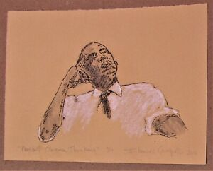 Senator Barack Obama Vintage 2008 signed litho from historic Philly gallery show