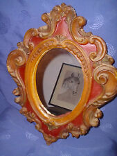 alter Wand-Kaminspiegel Wachs Spiegel-Rahmen Antik Barockstil *RAR* Shabby chic