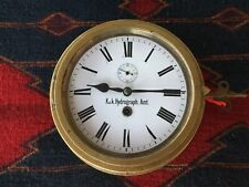 Antique Austrian Kriegsmarine Maritime Clock Kuk Hyrdrograph Amt Runs Perfect.
