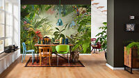 NON WOVEN giant wallpaper 368x248cm Green rainforest design wall mural decor