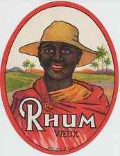 """RHUM VIEUX"" Etiquette offset originale"