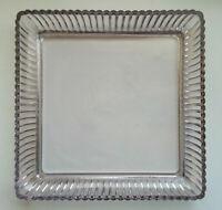 ANCIEN PLAT PLATEAU en Verre Epais ou CRISTAL de PORTIEUX - Glass Crystal Tray