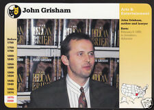 JOHN GRISHAM Writer The Pelican Brief Author GROLIER STORY OF AMERICA CARD