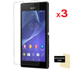3 x CLEAR LCD Screen Protector Guard Covers for Sony Xperia M2 (D2303/D2305/6)